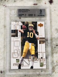 Tom-Brady-Patriots-2000-UD-Pros-amp-Prospects-Rookie-RC-BGS-9-9-5-10-High-Subs