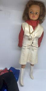 9 Vintage Ideal Dodi Doll 1964 Original Blue & Red Dress