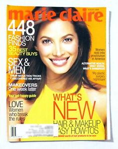 Vintage Marie Clair Magazine | August 1998 | Christy Turlington Cover | Fashion
