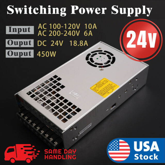 Mean Well SE-450-24 Switching power supply Adapter  Output 24V DC 18.8A 450W
