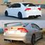 Fits-06-11-Honda-Civic-Sedan-Rear-Bumper-Lip-with-LED-3RD-Brake-Light miniature 2