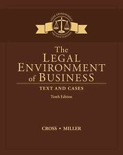 The Legal Environment of Business : Text and Cases by Frank B. Cross and Roger LeRoy Miller (2017, Hardcover)