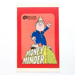 1980s-Newcastle-Permanent-Building-Society-Money-Minder-Sticker-VINTAGE-NOS