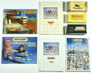 Vintage-Matchbox-Catalogues-1981-1982-1987-1988-1989-1990-1991-Box-Old-Toy-Cars