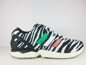 NEW ADIDAS ZX FLUX ZEBRA ITALIA INDEPENDENT B32741  SIZE - 10