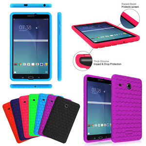 great fit cdc23 c4d79 Details about Shock Proof Silicone Case Cover for Samsung Galaxy Tab E 8.0  SM-T375/T377/T378