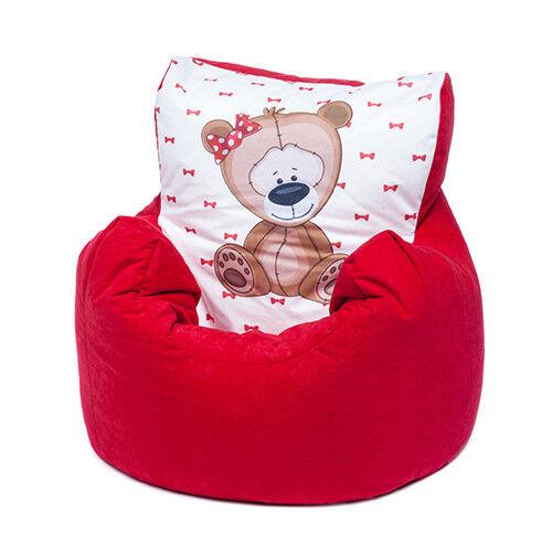 Red Bear Childrens Character Filled Beanbag Kids Bean Bag Chair