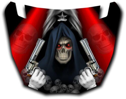 Yamaha Viking UTV Graphics Hood Decal 2014 Grim Reaper Revenge Red
