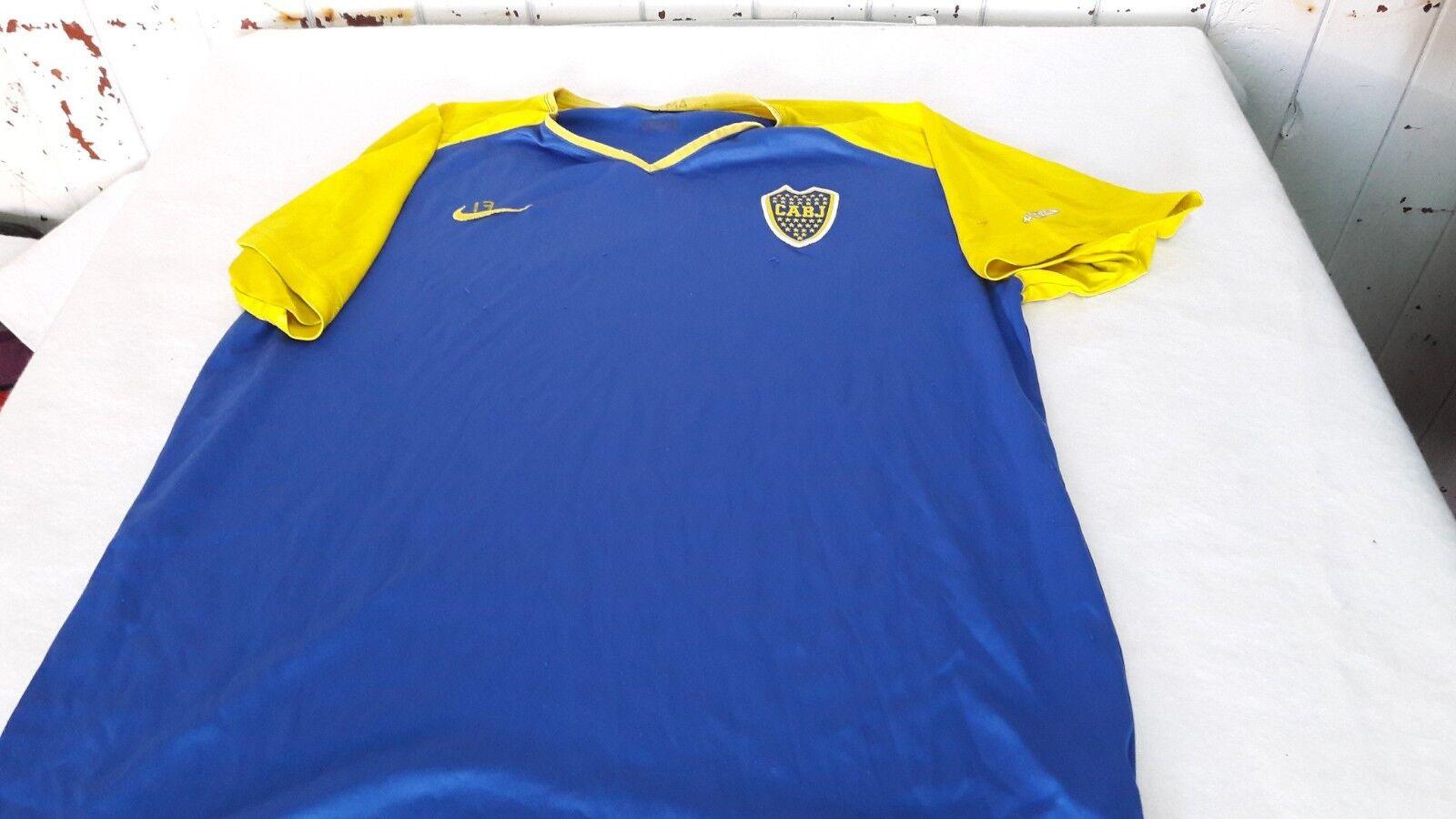 Old Boca Jr Formación Camiseta De Fútbol Original Nike del club, con número 17