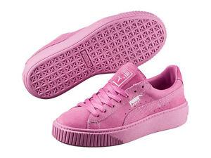 61b7abe5baf4d7 Women s Shoe PUMA Basket Platform Reset Suede Sneaker 363313-02 ...