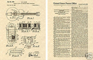 HUMBUCKER-PICKUP-Gibson-Guitar-PATENT-Art-Print-READY-TO-FRAME-Lover-PAF