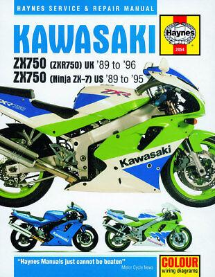 1989 1995 Kawasaki Ninja 750 Zx 7 Zx7 Zx750 Zx7r Haynes Repair Manual 2054 Ebay