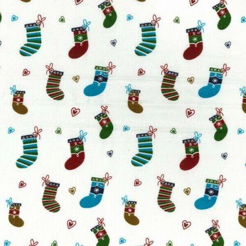 100/% Tela De Algodón Navidad Medias Festivo Navidad de 135cm de ancho Decorativo