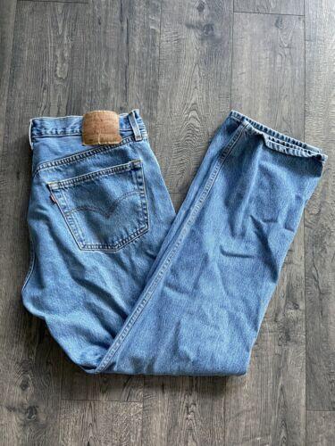 Vintage 1990s Levi's 501 XX Medium Wash Jeans Siz… - image 1