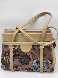 Shoulder Bag 3 Zipped Compartments 2 Open Side Compartments.