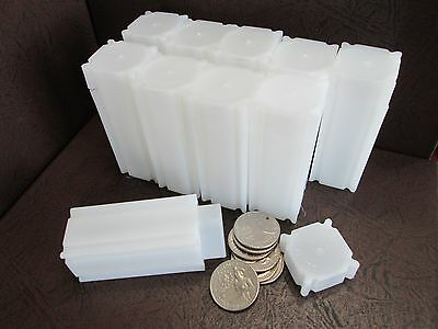 One CoinSafe Brand Square Coin Storage Tubes for Quarters