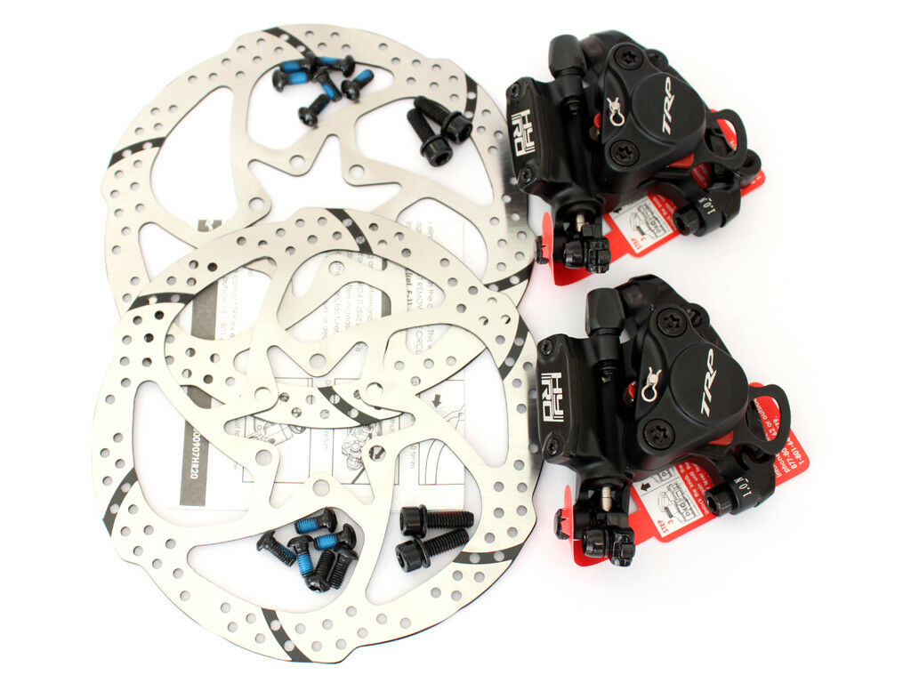 TRP HY RD Post Mount Front & Rear Cable-Actuated Hydraulic Disc Brake set 160mm