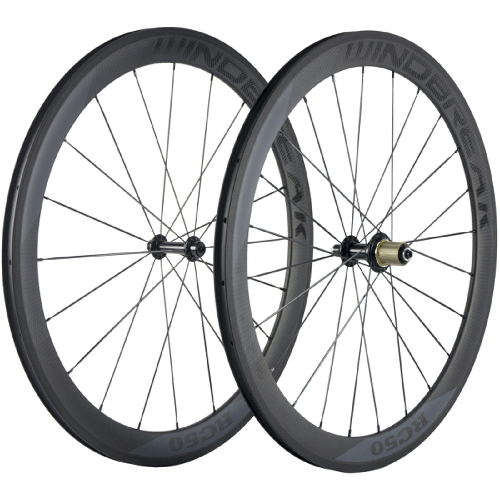 Carbon Wheels Clincher 50mm Carbon Road Bike Wheelset  R13 Matte Basalt Brake  new sadie
