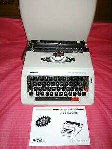1964 olivetti letter 32 ultra portable manual typewriter with | etsy.