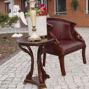 Tisch couchtisch massiv runder schwan beistelltisch for Runder vintage tisch