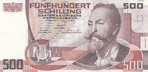 +++ats 500--, Otto Wagner Von 1985, Schilling - Banknote. Bankfrisch! Fortgeschrittene Technologie üBernehmen