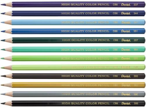 Pentel Arts Colored Art Drawing Pencils Pre-Sharpened 24 Color Set CB8-24