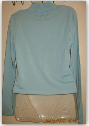 Wild Fable women/'s TEAL BLUSH cropped t-shirt long sleeve Casual Wear