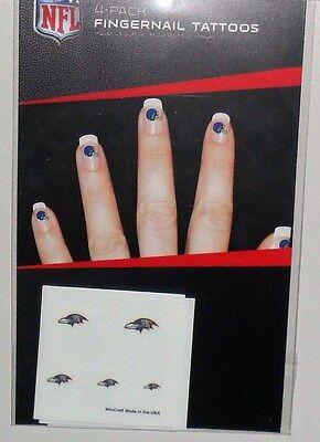 Sports Mem, Cards & Fan Shop Fan Apparel & Souvenirs Smart Nfl Baltimore Ravens 20 Temporary Fingernail Tattoos Fast Free Shipping