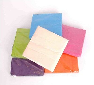 Coloured Party Lunch Napkins Assorted Colours Soft Paper - Buy BULK & SAVE