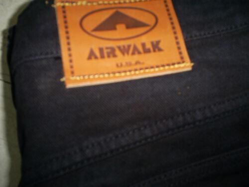 Vintage black Airwalk baggy skateboard hip hop urban rasta pant size 38