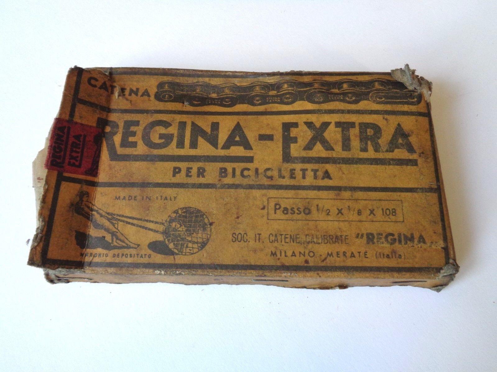 NOS Vintage 1950s REGINA-Extra Pista Pista 108 Enlace Cadena de 1 2 pulgadas 1 8