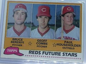 Bruce Berenyi Reds Future Stars 1981 Baseball Card TOPPS #606 EX-MT