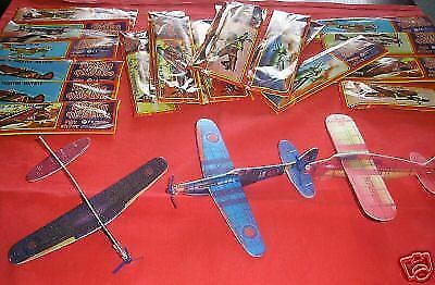 NEW 24 NEW TOY GLIDER PLANE PLANES MILITARY FORCES AIRCRAFT KITS PARTY BAG