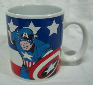 Marvel-Comics-CAPTAIN-AMERICA-3-034-CERAMIC-MUG-The-Avengers-NEW