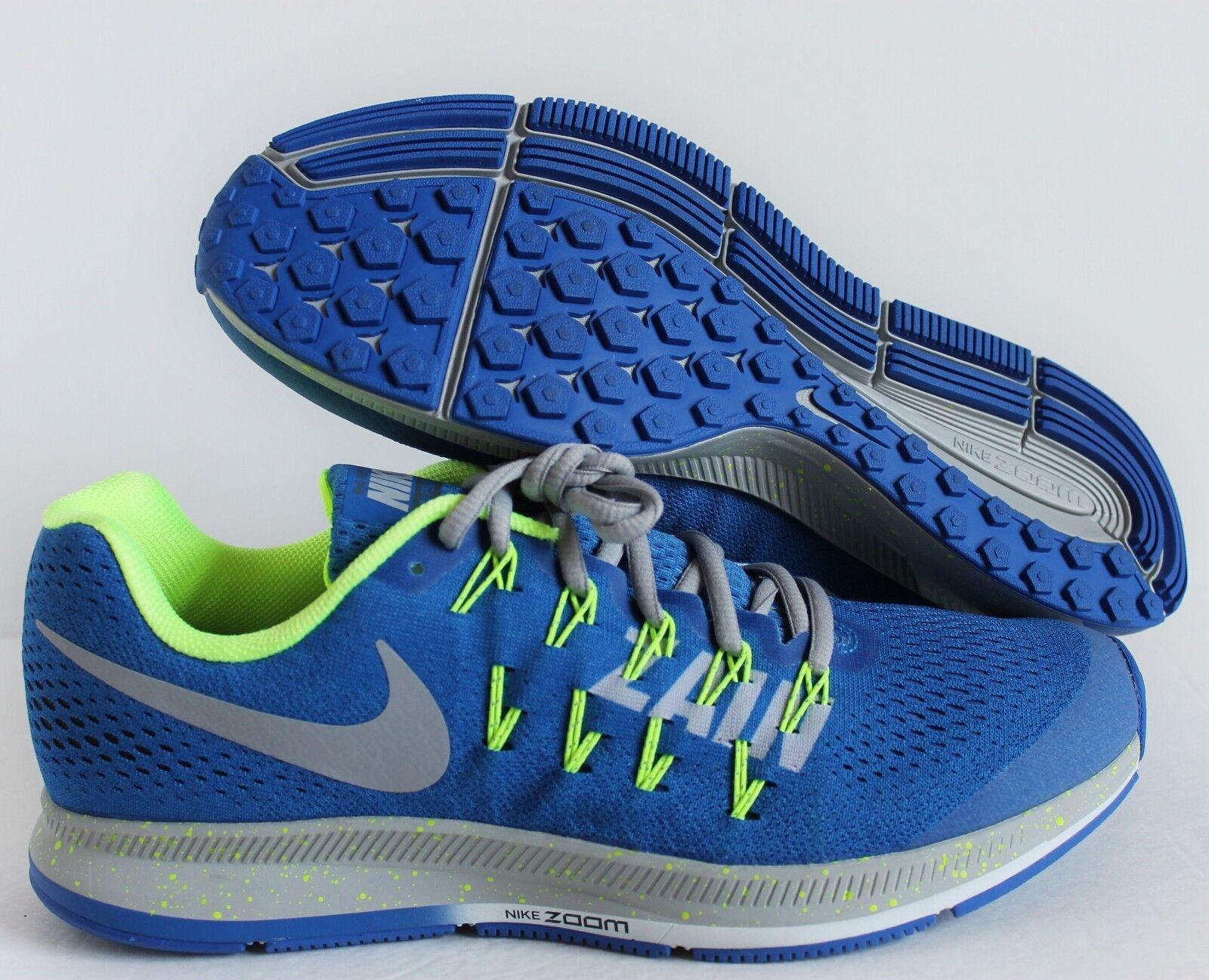 Nike Men Zoom Pegasus 33 iD bluee-Grey-Volt SZ 10