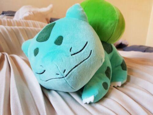 "Pokemon Licensed Sleeping Bulbasaur Doll Rag Plush Cozy Soft Toy Gift 12/"" 30cm"