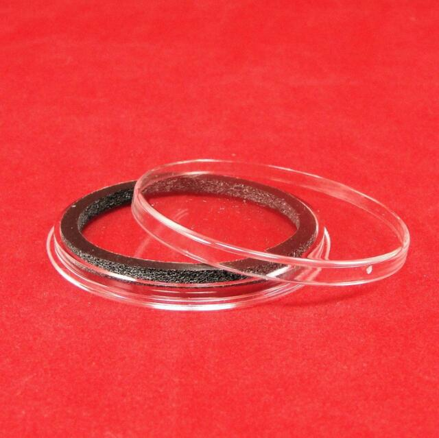 50 AIRTITE COIN HOLDER CAPSULE BLACK RING 37 MM