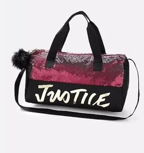 e4d9aa6f28e Justice Girl's Dance/ Gymnast Justice Logo Flip Sequin Duffle Bag ...