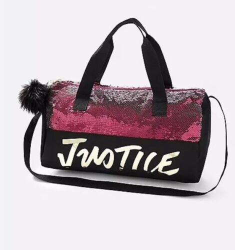 Justice Girl/'s Dance// Gymnast Justice Logo Flip Sequin Duffle Bag NWT