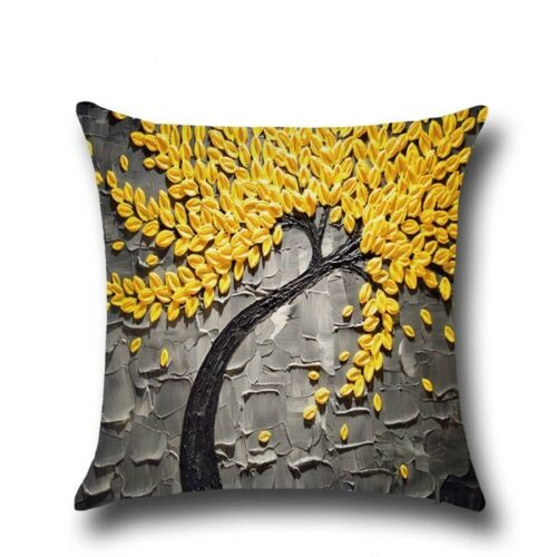 Cotton Linen Bolster Throw Pillow Case Sofa Voiture Housse De Coussin Décoration Maison Cadeau