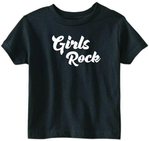 GIRLS ROCK PRINTED T SHIRT TEE BABY KIDS BIRTHDAY NEWBORN CUTE FUNNY GIFT HUMOUR