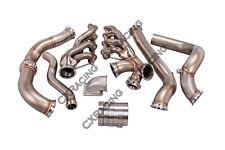 CXRacing Turbo Header Manifold Downpipe Kit For 82-92 Camaro LS1 LSx Engine NA-T