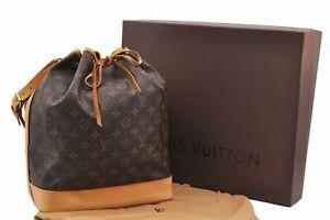 Authentic-Louis-Vuitton-Monogram-Noe-Shoulder-Bag-M42224-Box-LV-A8496