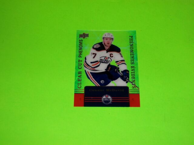 TIM HORTONS CONNOR MCDAVID CLEAR CUT PHENOM PHENOMS UPPERDECK HOCKEY CARD CC 1