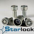 Ford-Sierra-Kit-Bulloni-Antifurto-Starlock-Farad-Ruote-in-Acciaio-Originali-HA-E