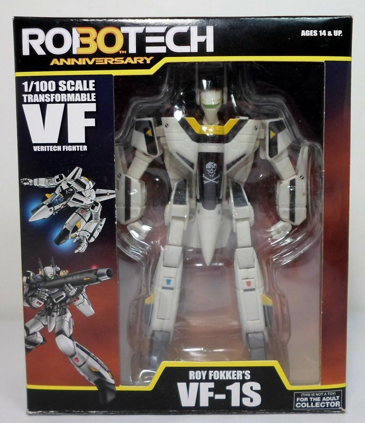 TOYNAMI ROBOTECH 30th ANNIVERSARY ROY FOKKER VF-1S TRANSFORMABLE 99% COMPLETE
