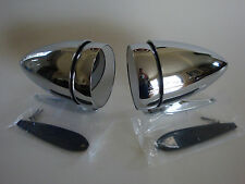 1965-1968 Ford Mustang Bullet Style Racing Mirrors - Left & Right Set - Deal!!!