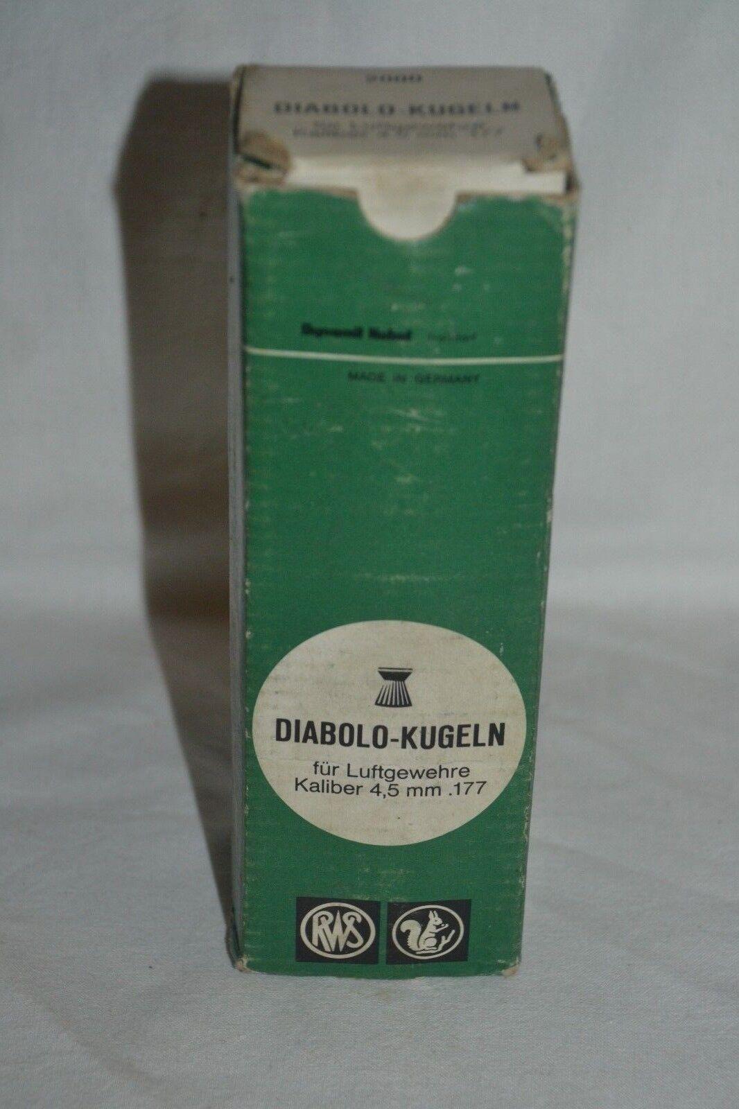 Vintage RWS Diabolo Kugeln 4,5mm cal .177 Pellets Empty Box of 2000 Pellets