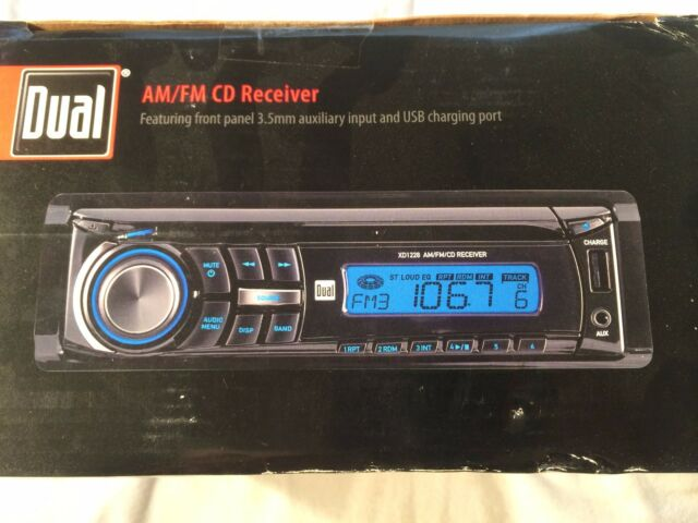 NEW DUAL In-Dash CD Player AM/FM Radio Car Stereo Receiver w/AUX/USB Charge-port