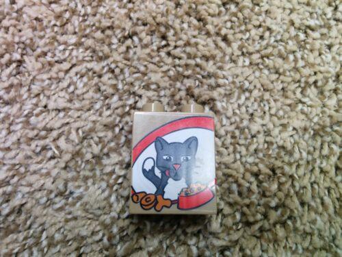 1 lego duplo 1X2X2 brick printed cat dog bee fish butterfly rabbit bird pick